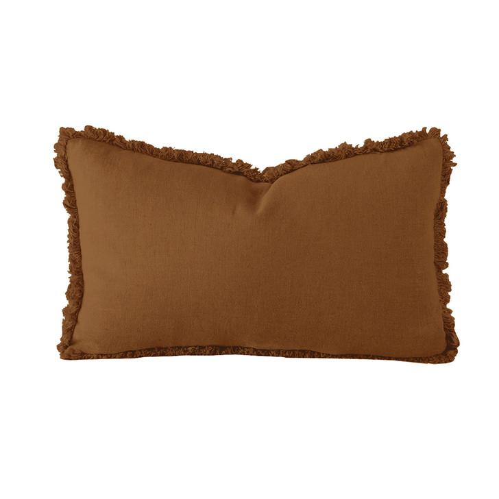 Bambury 100% Linen Hazel Long Filled Cushion   My Linen