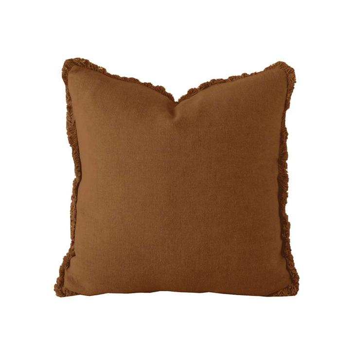 Bambury 100% Linen Hazel Square Filled Cushion | My Linen