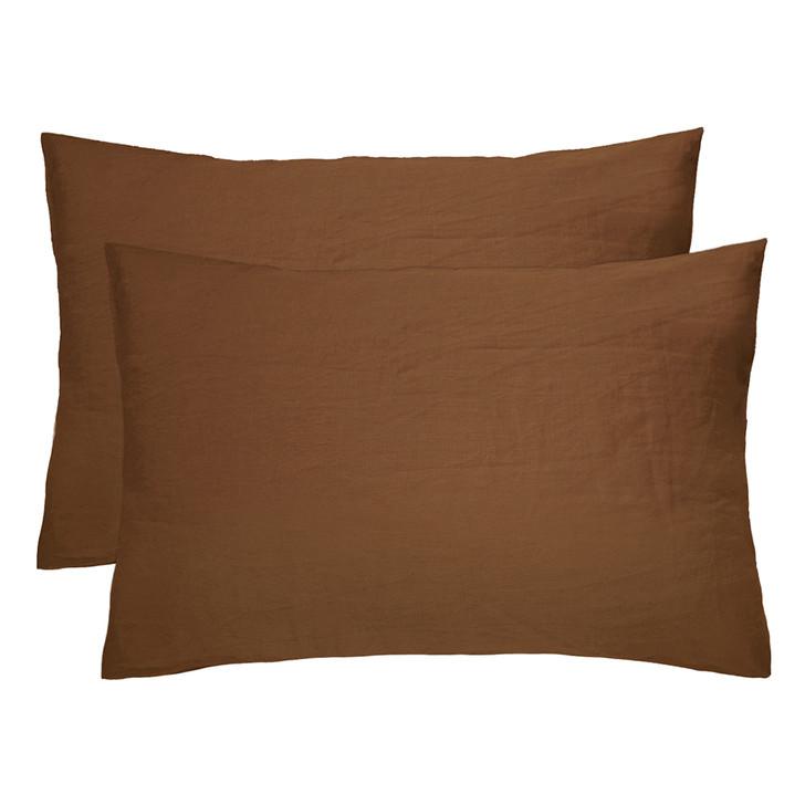 Bambury 100% Linen Hazel Standard Pillowcases | My Linen