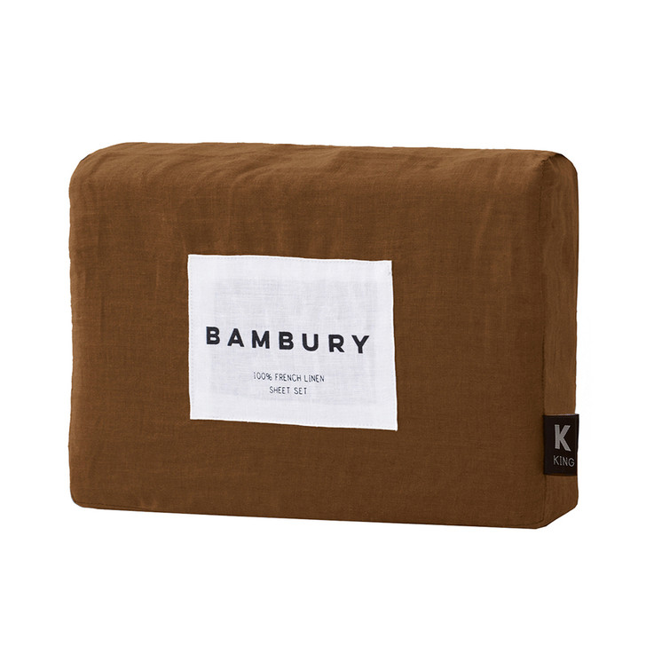 Bambury 100% Linen Hazel King Bed Mega Sheet Set   My Linen