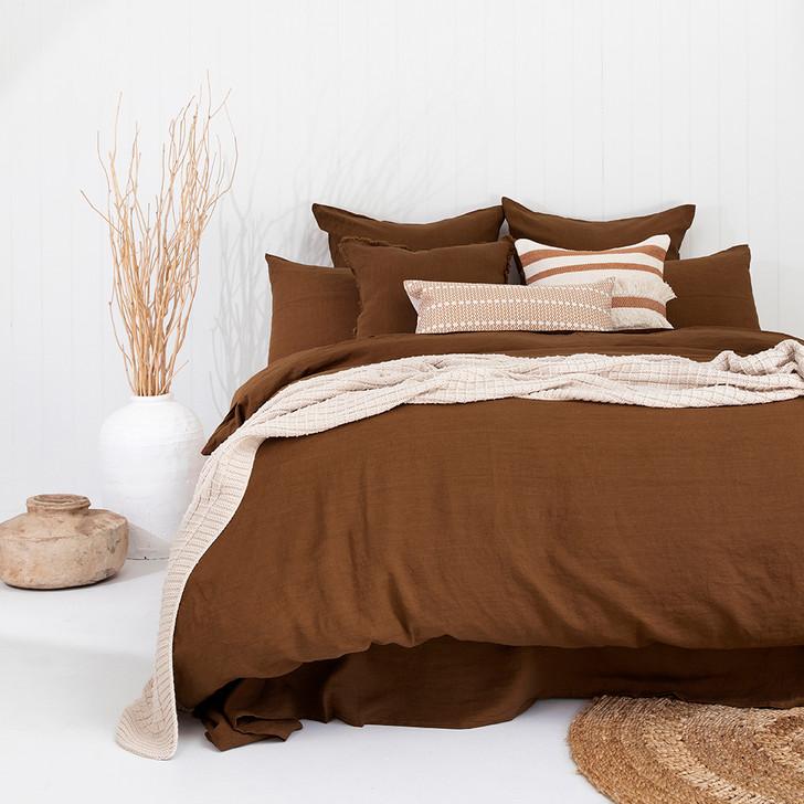 Bambury 100% Linen Hazel Double Bed Quilt Cover Set | My Linen