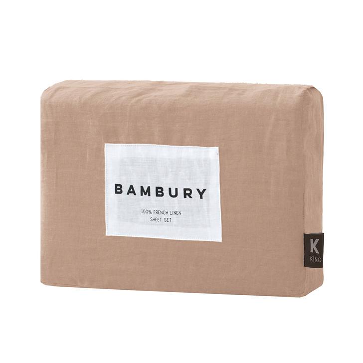 Bambury 100% Linen Tea Rose King Bed Mega Sheet Set | My Linen