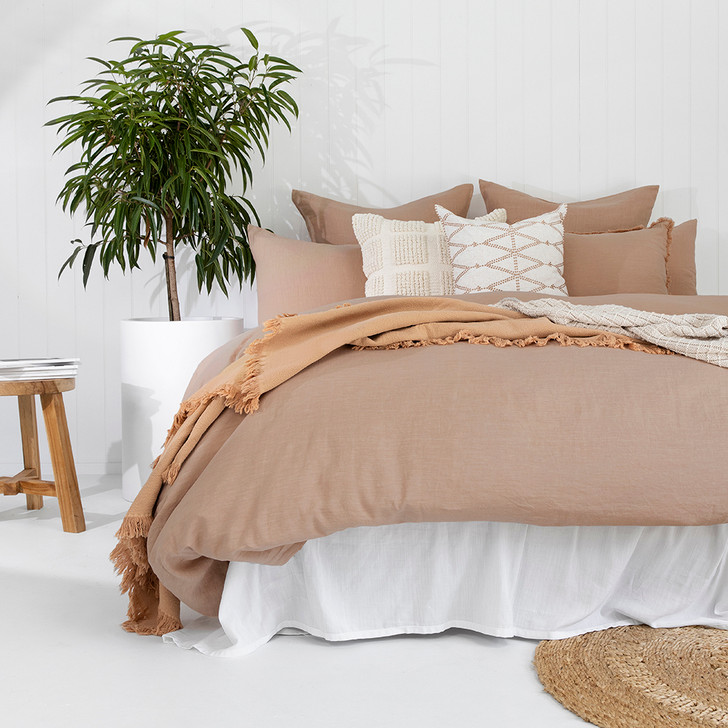 Bambury 100% Linen Tea Rose Double Bed Quilt Cover Set | My Linen