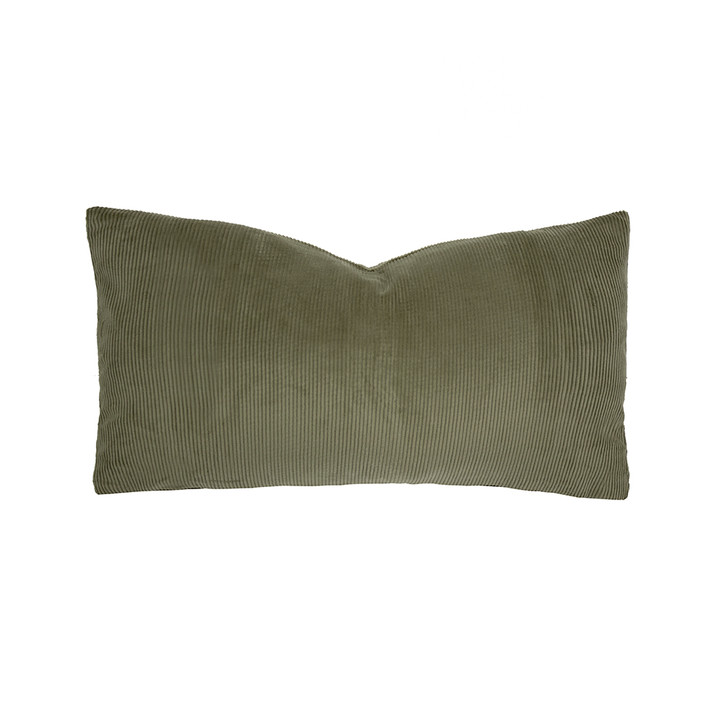 Bambury Sloane Olive Long Filled Cushion | My Linen