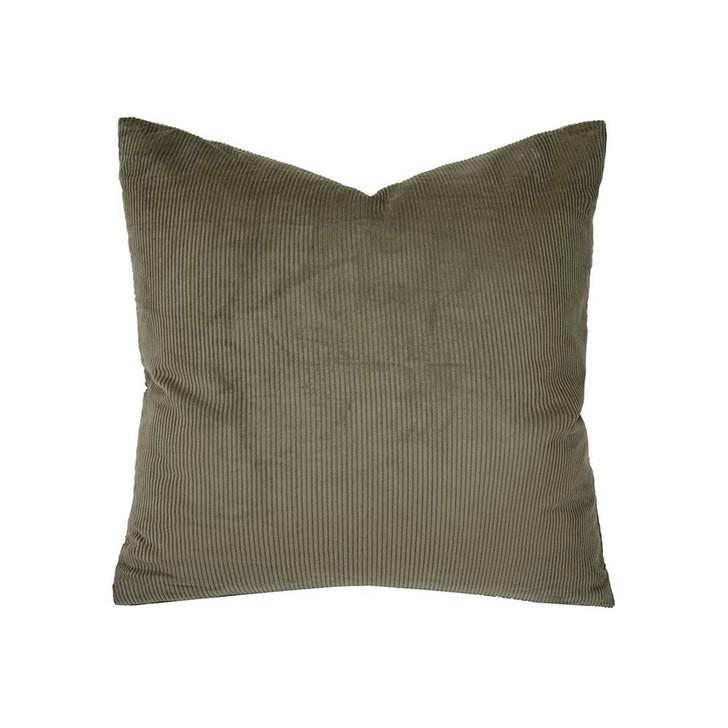 Bambury Sloane Olive Square Filled Cushion | My Linen
