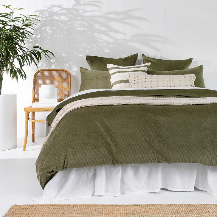 Bambury Sloane Olive King Bed Quilt Cover Set   My Linen