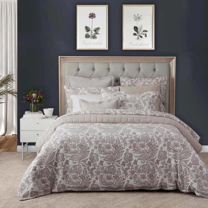 Private Collection Meridien Stone Super King Quilt Cover Set   My Linen
