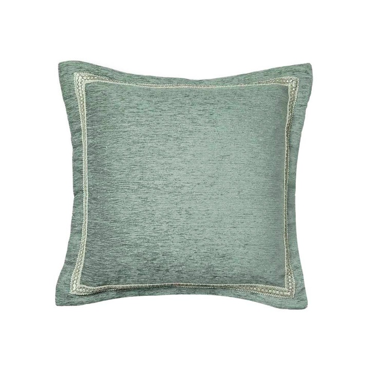 Davinci Coronet Sage Square Filled Cushion | My Linen