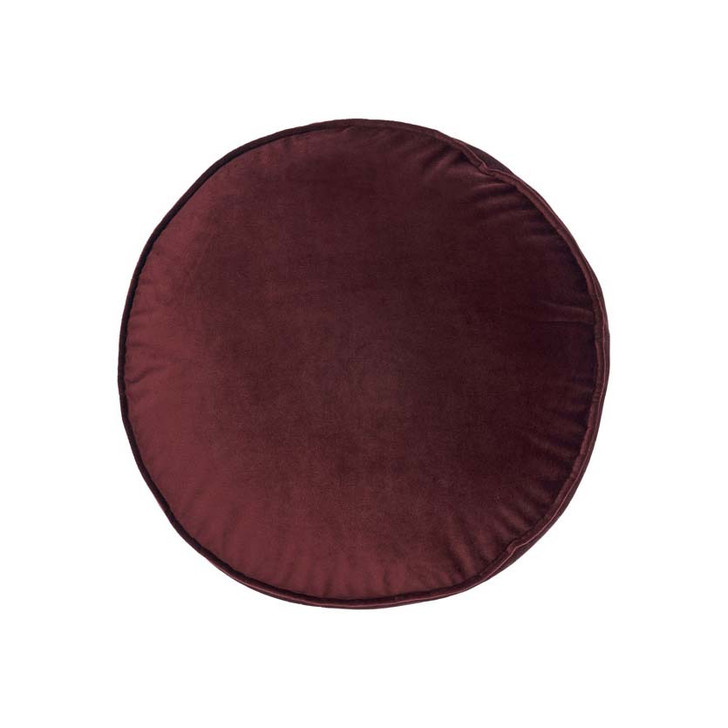 Linen House Toro Cabernet Round Filled Cushion | My Linen