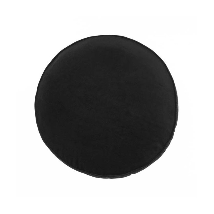 Linen House Toro Black Round Filled Cushion | My Linen
