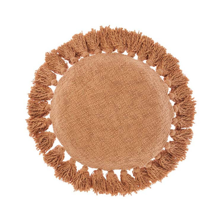 Linen House Florida Brandy Round Filled Cushion   My Linen