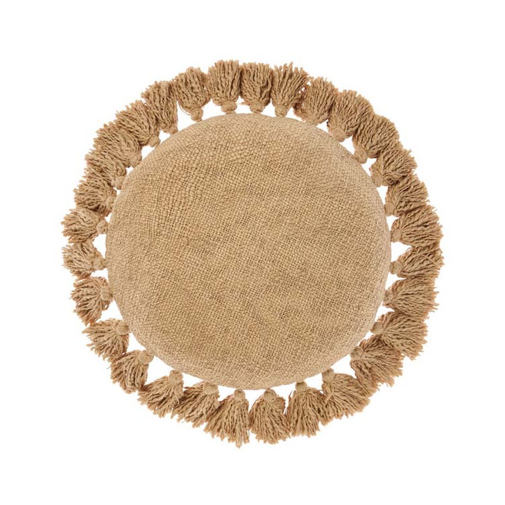 Linen House Florida Ginger Round Filled Cushion | My Linen