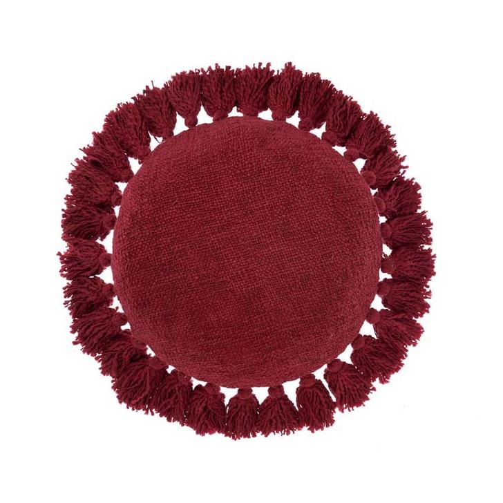 Linen House Florida Salsa Round Filled Cushion | My Linen