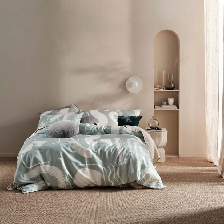 Linen House Arden Mist King Bed Quilt Cover Set | My Linen