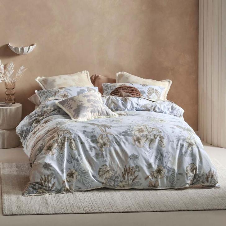 Linen House Alonna Sky Queen Bed Quilt Cover Set   My Linen