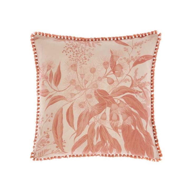 Linen House Acacia Garden Navy Floral Square Filled Cushion | My Linen