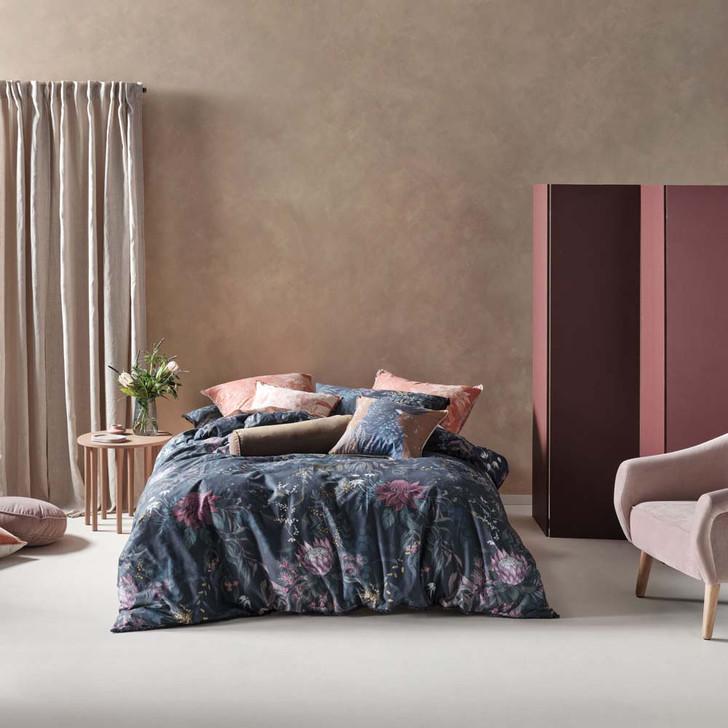 Linen House Acacia Garden Navy Double Bed Quilt Cover Set | My Linen