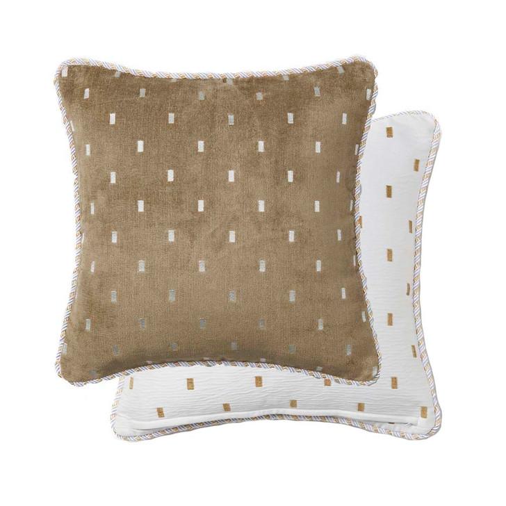 Davinci Massimo Snow Square Filled Cushion   My Linen