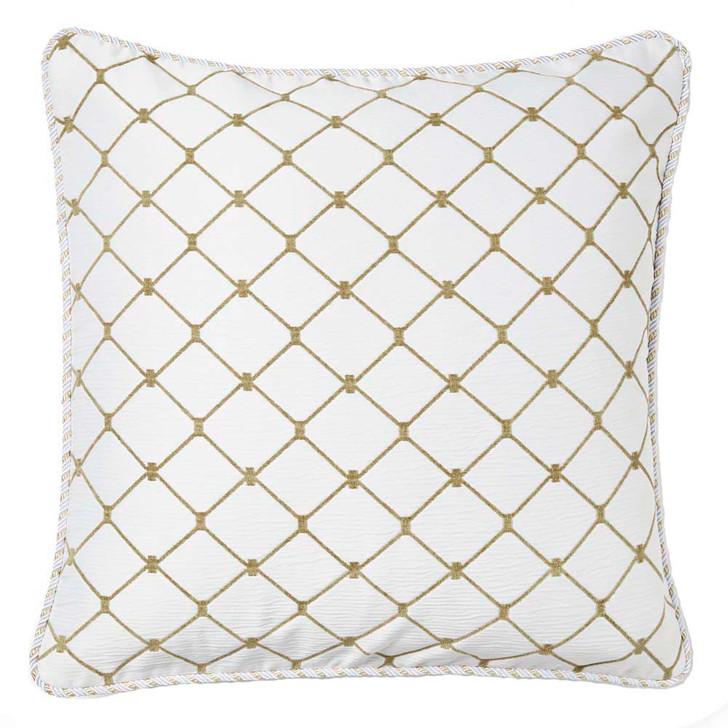 Davinci Massimo Snow Trellis European Pillowcase | My Linen