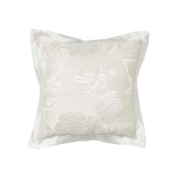 Platinum Logan and Mason Catalina Pearl Square Filled Cushion | My Linen