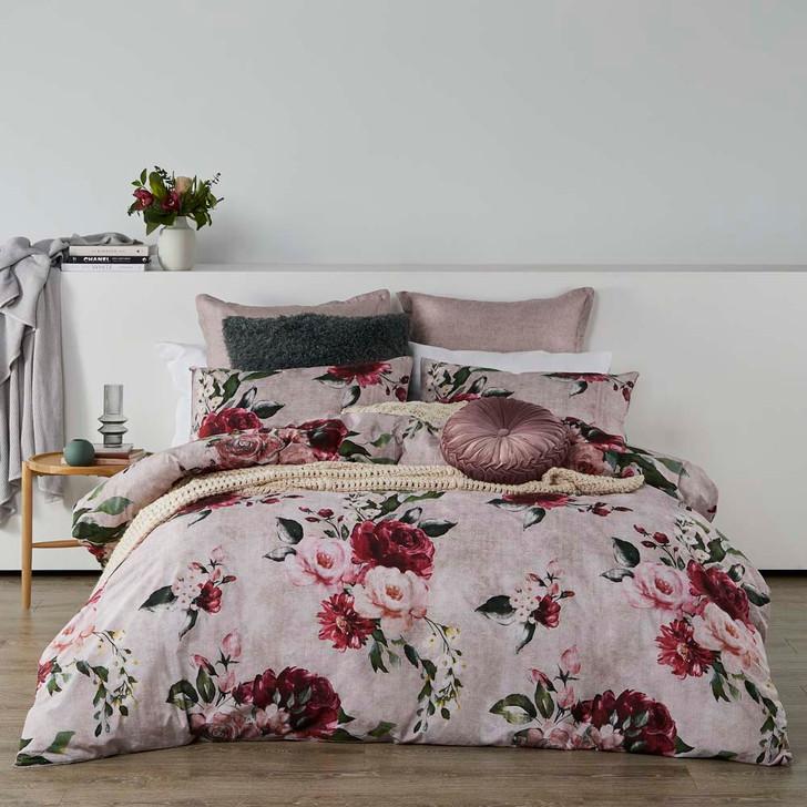 Logan and Mason Cherub Rose King Bed Quilt Cover Set   My Linen