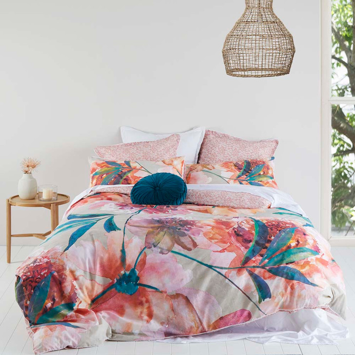 Logan and Mason Chelsea Bloom Queen Bed Quilt Cover Set | My Linen