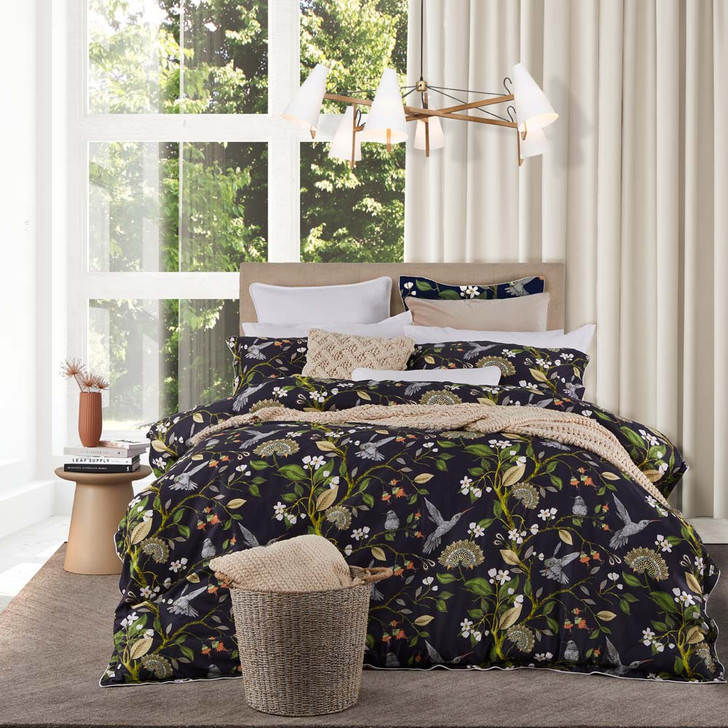 Private Collection Thora Navy King Bed Quilt Cover Set | My Linen