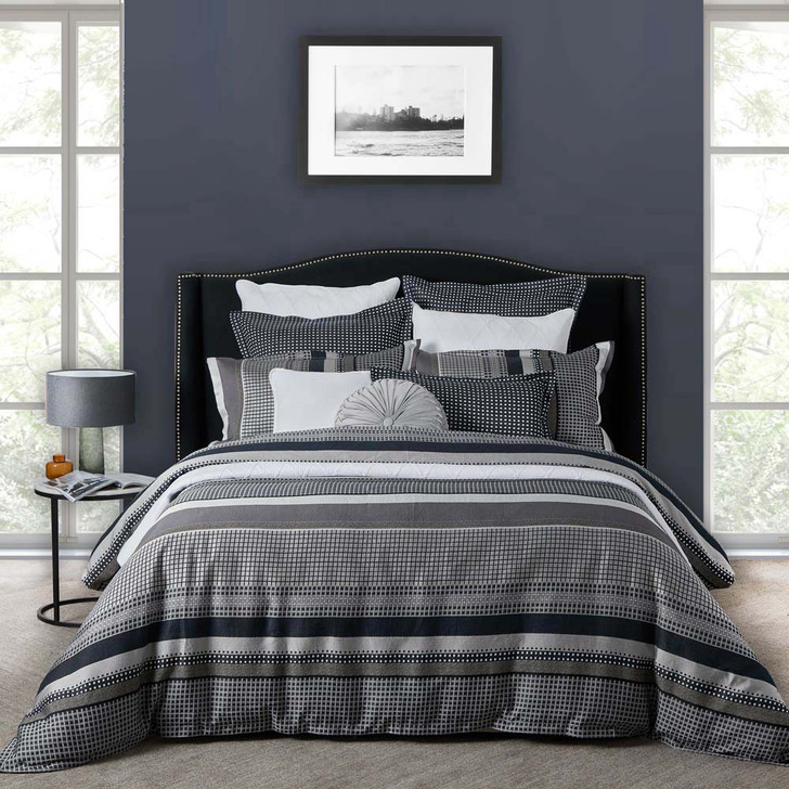 Private Collection London Ink Super King Quilt Cover Set | My Linen