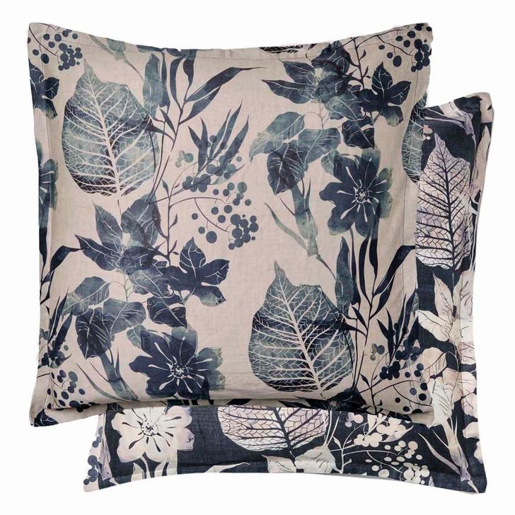 Private Collection Allambie Indigo European Pillowcase   My Linen