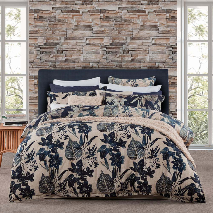 Private Collection Allambie Indigo Queen Bed Quilt Cover Set | My Linen