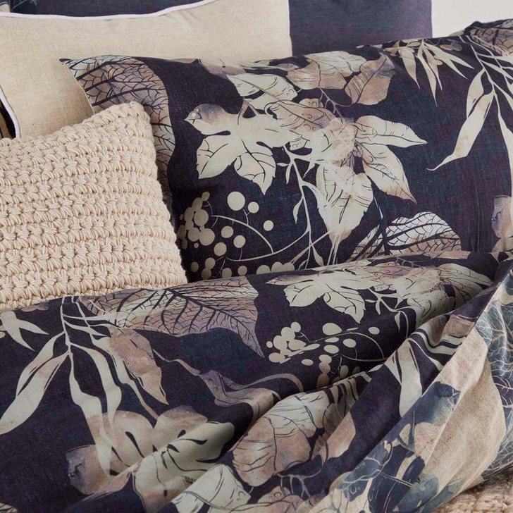 Private Collection Allambie Indigo King Bed Quilt Cover Set Detail | My Linen