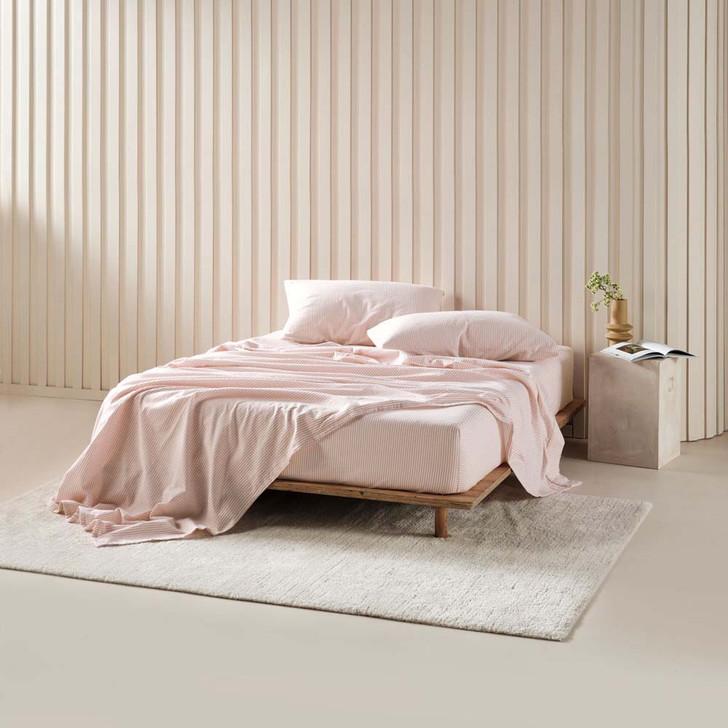 Linen House Landyn Rose Flannelette King Bed Sheet Set   My Linen