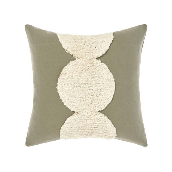 Linen House Ojai Sage Square Filled Cushion | My Linen