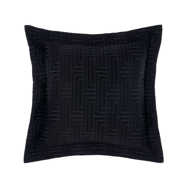 Grace by Linen House Winston Black Square Filled Cushion | My Linen