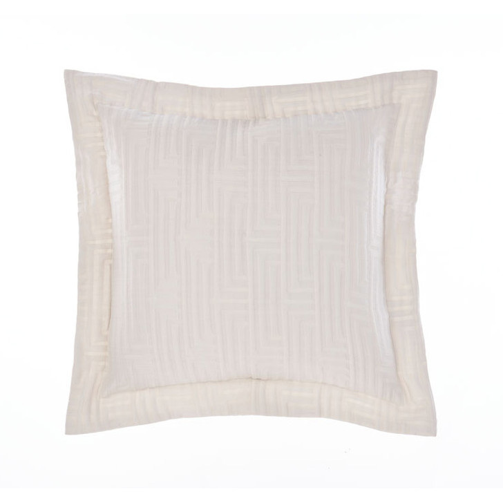 Grace by Linen House Winston White Square Filled Cushion   My Linen