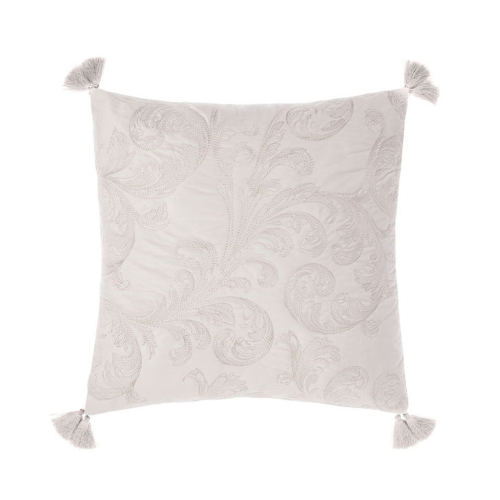 Grace by Linen House Verity Gold Square Filled Cushion | My Linen