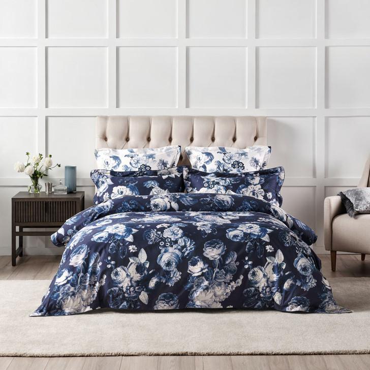 Grace by Linen House Jardin Navy Super King Quilt Cover Set | My Linen
