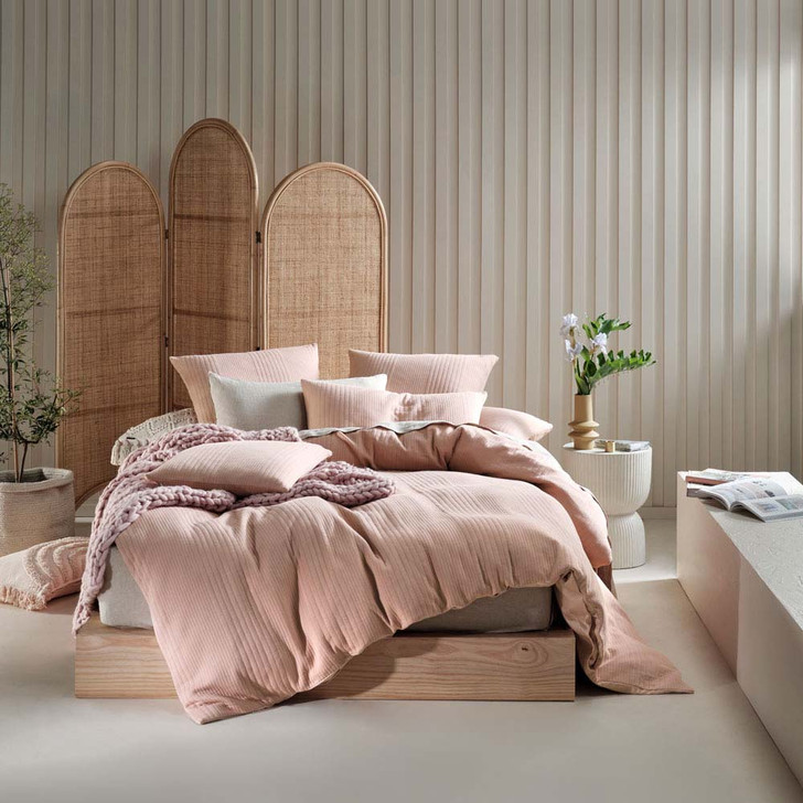 Linen House Osmond Rose Double Bed Quilt Cover Set   My Linen