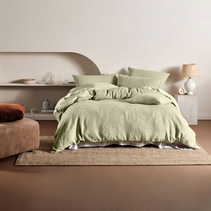 Linen House Lila Wasabi Super King Quilt Cover Set   My Linen