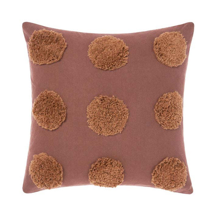 Linen House Haze Pecan Square Filled Cushion | My Linen