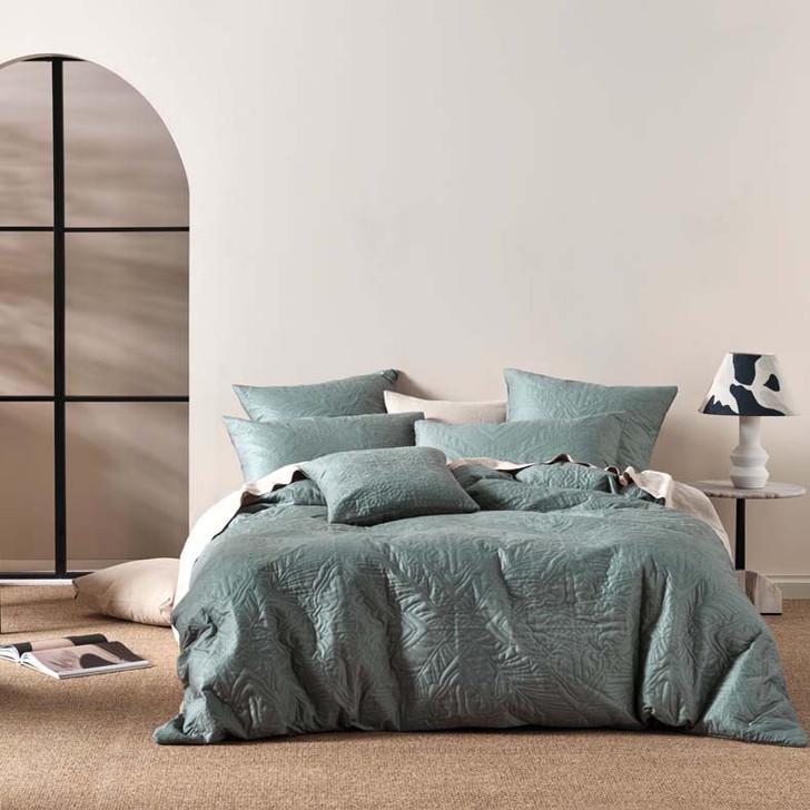Linen House Isadora Petrol Super King Quilt Cover Set   My Linen