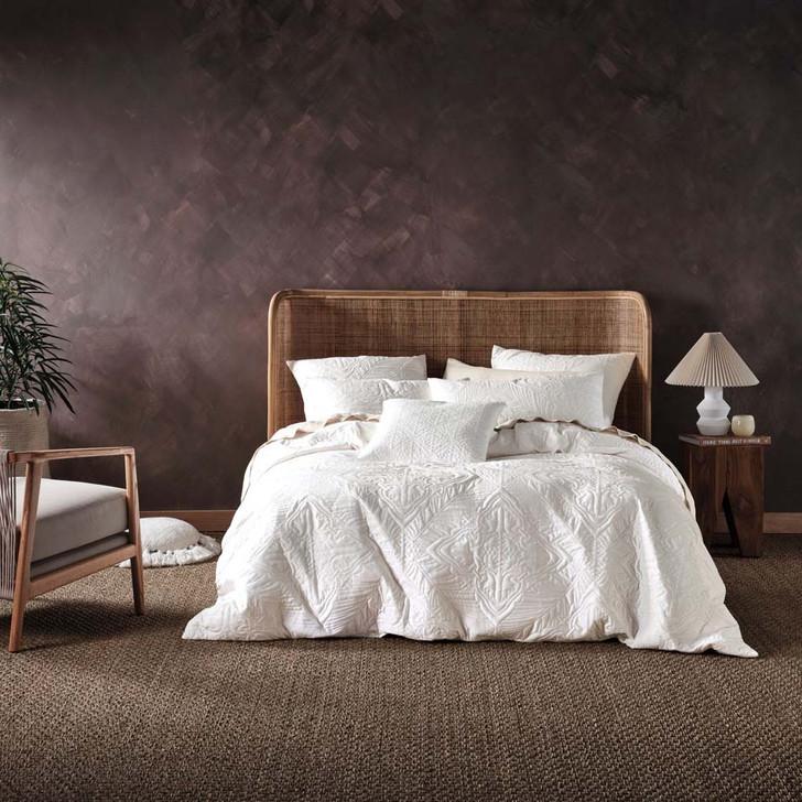 Linen House Isadora Sugar Queen Bed Quilt Cover Set   My Linen