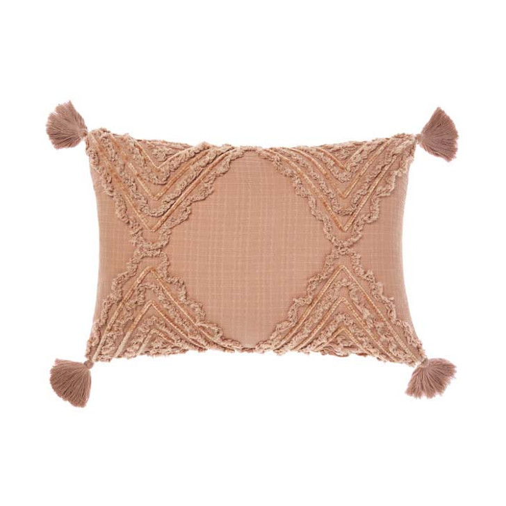 Linen House Heather Brandy Long Filled Cushion | My Linen