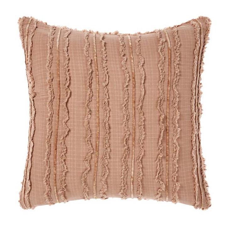 Linen House Heather Brandy European Pillowcase | My Linen