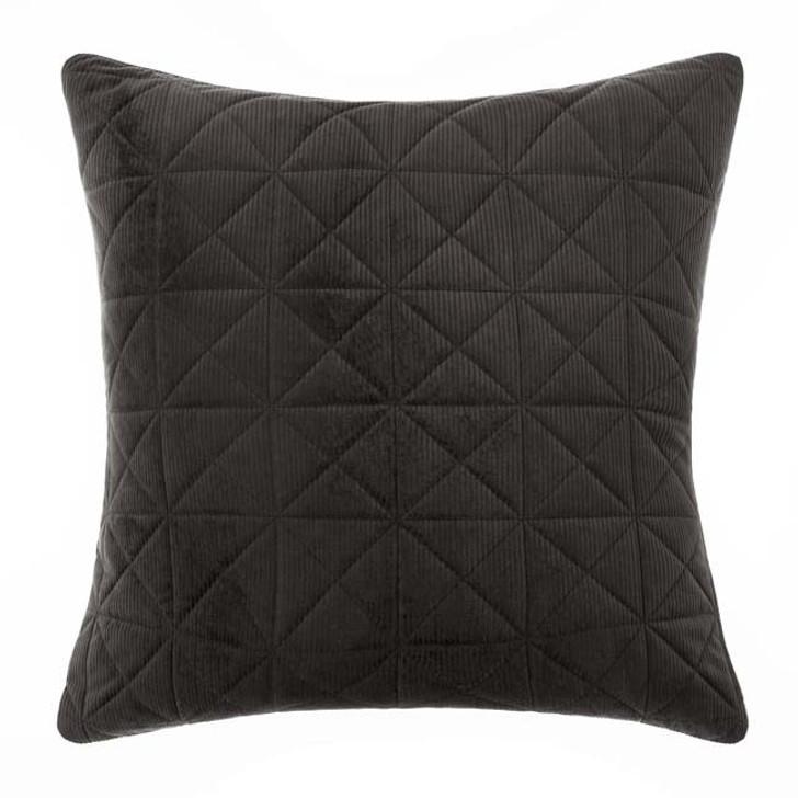 Linen House Heath Black European Pillowcase   My Linen