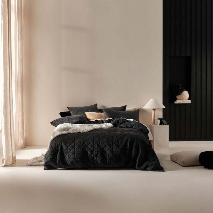 Linen House Heath Black King Bed Quilt Cover Set | My Linen