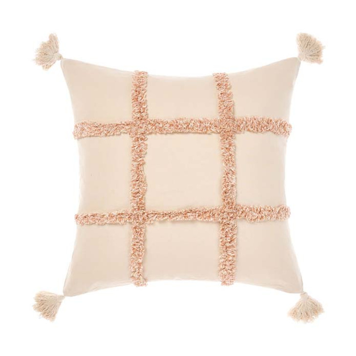 Linen House Lyndon Brandy Square Filled Cushion | My Linen