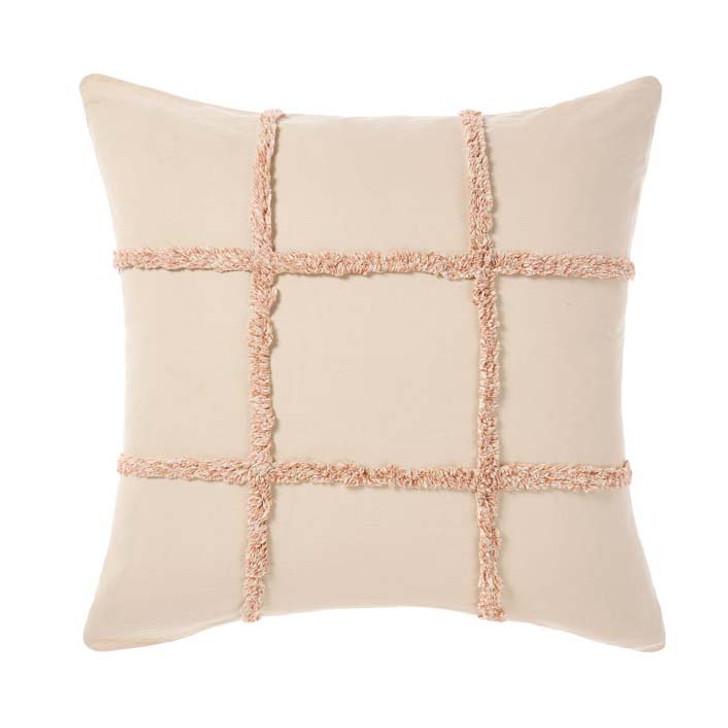 Linen House Lyndon Brandy Square Filled Cushion | My Linen