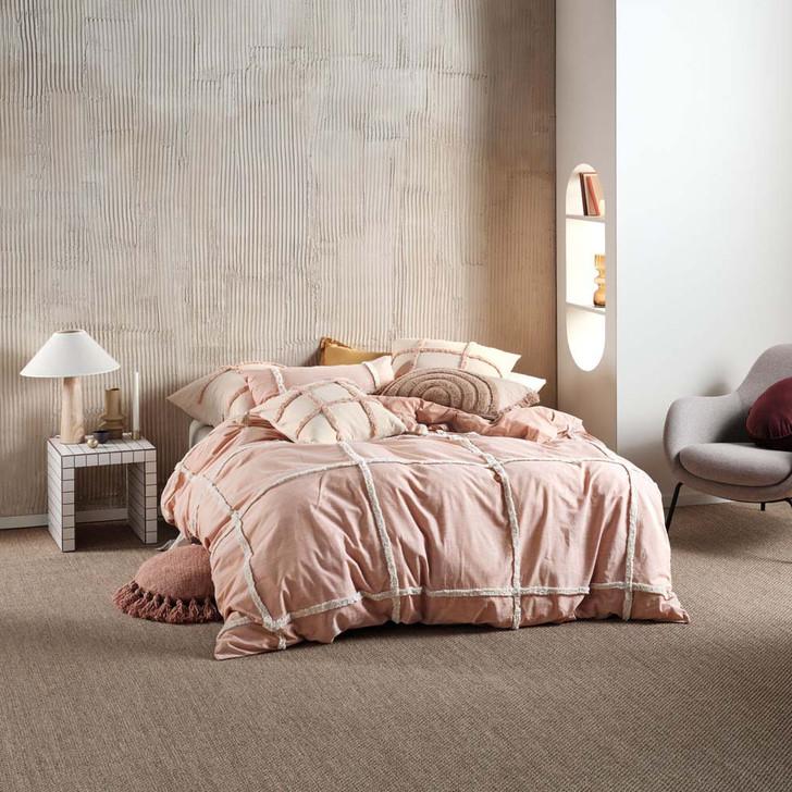 Linen House Lyndon Brandy King Bed Quilt Cover Set | My Linen
