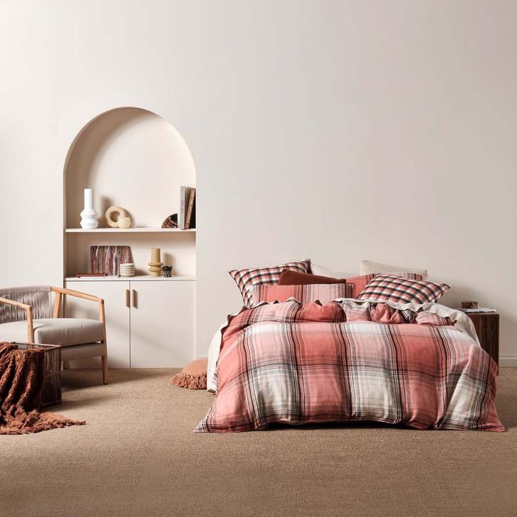 Linen House Carricklea Brandy King Bed Quilt Cover Set | My Linen